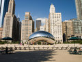 Chicago Cloud Gate Royalty Free Stock Image
