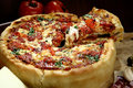 Chicago deep dish pizza Royalty Free Stock Image