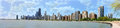 Chicago downtown city panoramic view Royalty Free Stock Image