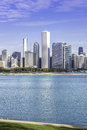 Chicago downtown in fall scenery morning view Royalty Free Stock Photography