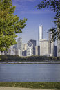Chicago downtown in fall scenery view Stock Photography