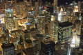 Chicago downtown skyscrapers at night view from willis tower Royalty Free Stock Photography