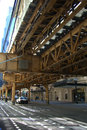 Chicago Elevated Train Stock Photography