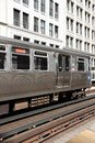 Chicago elevated train usa june s el system served million rides in Stock Photo
