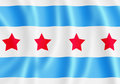 Chicago flag Royalty Free Stock Photos