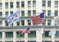 Chicago flags Royalty Free Stock Photo