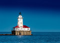 Chicago Harbor Light Clear Blue Sky Royalty Free Stock Photo