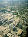 Chicago highway interchange ariel view air of showing the Royalty Free Stock Image