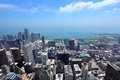 Chicago illinois in the united states city skyline with lake michigan Royalty Free Stock Image