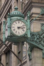 Chicago Landmark clock in Royalty Free Stock Photo