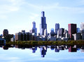 Chicago landscape Stock Photos