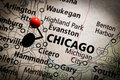 Chicago Map Stock Images