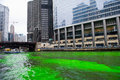 Chicago march chicago river dyed green st patrick s day chicago march Stock Image