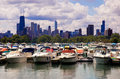 Chicago marina Royalty Free Stock Images