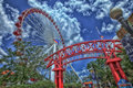Chicago navy pier ferris wheel a view of the in at one of the city s favourite tourist attractions Royalty Free Stock Images