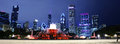 Chicago night landscape Royalty Free Stock Photo