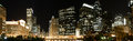 Chicago panoramic skyline at night Royalty Free Stock Photography