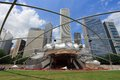 Chicago pritzker pavilion usa june people visit jay in millennium park in jay is a famous bandshell Royalty Free Stock Image