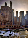 Chicago river Arkivfoto
