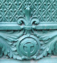 Chicago river symbol and fleur de lis architectural detail Royalty Free Stock Photo