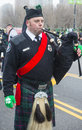 Chicago saint patrick parade march bagpiper at the annual s day in on march Stock Photo
