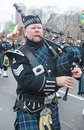 Chicago saint patrick parade march bagpiper at the annual s day in on march Stock Images
