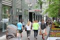 Chicago shopping usa june people walk the famous magnificent mile of michigan avenue in it is s major destination Stock Image
