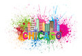 Chicago Sklyine Paint Splatter...