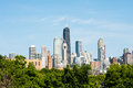 Chicago skyline afternoon view of the from the west Royalty Free Stock Photo