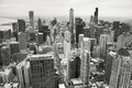 Chicago Skyline in Black and White Royalty Free Stock Photo