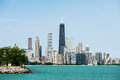 Chicago skyline lake view of the from michigan Royalty Free Stock Image