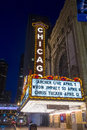 Chicago theater march the famous on state street on march in illinois the iconic marquee often appears in film and Royalty Free Stock Photography
