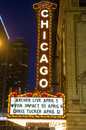 Chicago theater march the famous on state street on march in illinois the iconic marquee often appears in film and Royalty Free Stock Images