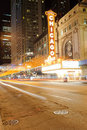 Chicago theater oct the famous on state street on october in illinois opened in the was renovated in the s Stock Photos