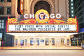 Chicago Theatre night view Stock Images