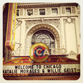 Chicago theatre sign and building Royalty Free Stock Photography