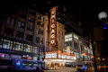 Chicago theatre state street chicago illinois night shot on Royalty Free Stock Photos