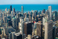Chicago usa downtown at great Royalty Free Stock Photo