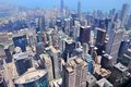 Chicago usa illinois in the united states city skyline with lake michigan Royalty Free Stock Images
