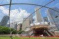 Chicago usa june people visit jay pritzker pavilion in millennium park in jay pritzker pavilion is a famous bandshell Royalty Free Stock Images