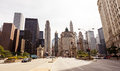 Chicago usa view of city during sunny day illinois Royalty Free Stock Images