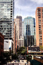 Chicago usa view of city during sunny day illinois Stock Image