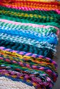 Chichen itza colorful hammocks in Mexico Royalty Free Stock Photo