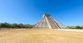 Chichen Itza - El Castillo Pyramid - Ancient Maya Temple Ruins in Yucatan, Mexico Royalty Free Stock Photo
