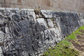 Chichen Itza.Fragment of a wall of a pyramid Stock Images