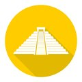 Chichen Itza Icon with long shadow