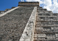 Chichen itza kukulkan pyramid el castillo mexico Royalty Free Stock Photo