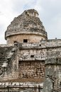 Chichen itza mayan observatory at yucatan peninsula mexico Stock Images