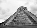 Chichen itza mayan pyramid ruins of in yucatan mexico castillo Royalty Free Stock Photography