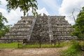 Chichen itza mayan ruins at yucatan peninsula mexico Royalty Free Stock Image